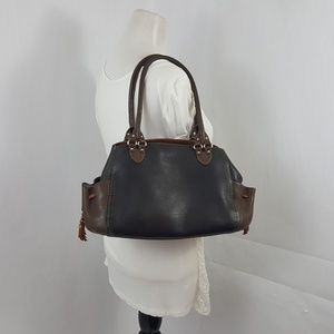 AUTHENTIC COLE HAAN PURSE ◇ BLACK BROWN LEATHER ◇